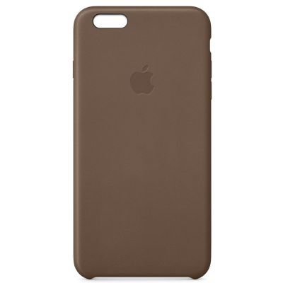 Apple iPhone 6 Plus Leather Case MGQR2ZM/A Olive Brown