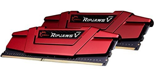 G.Skill 16 GB DDR4-3200 Kit, czerwony F4-3200C14D-16GVR, Ripjaws V