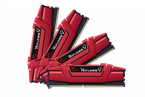 G.Skill 64 GB DDR4-3200 Quad-Kit, czerwony F4-3200C14Q-64GVR, Ripjaws V