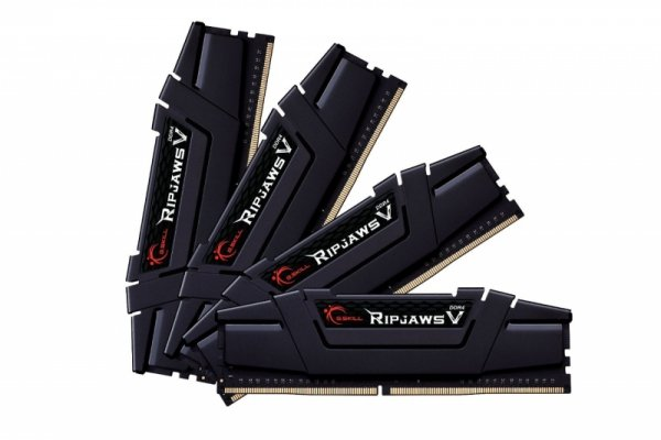 G.Skill 64 GB DDR4-3200 Quad-Kit, F4-3200C14Q-64GVK, Ripjaws V