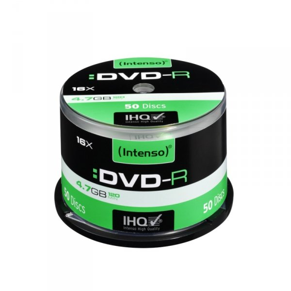1x50 Intenso DVD-R 4,7GB 16x Speed, Cakebox