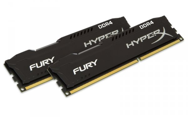 Kingston HyperX 8GB DDR4-2666 Kit, HX426C15FBK2/8, Fury Black