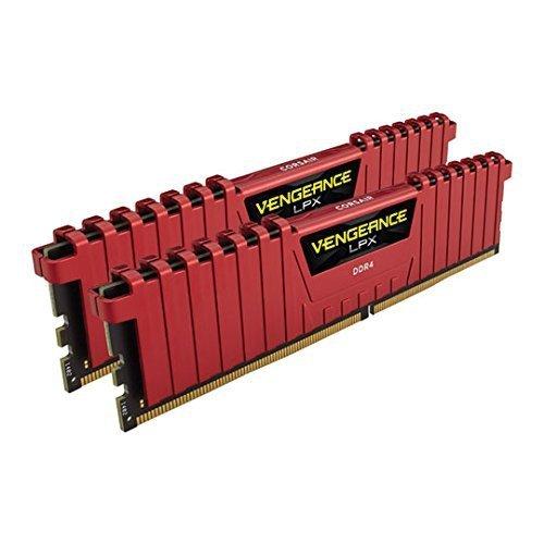 Corsair  16GB DDR4-3200 Kit, czerwony CMK16GX4M2B3200C16R, Vengeance LPX