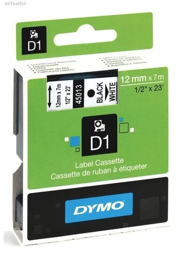 Dymo Taśma D1 9MM red/WH