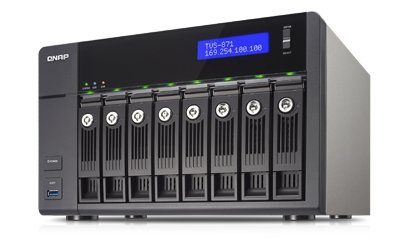 Qnap Turbo Station TVS-871-i3-4G [0/8 HDD/SSD, 4x Gigabit-Lan, 5x USB, 1x HDMI]