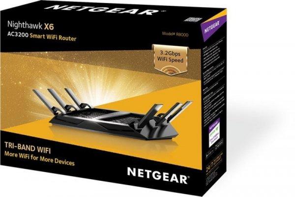 Netgear Nighthawk X6 Tri-Band WiFi Router R8000 - 1300Mbit/s