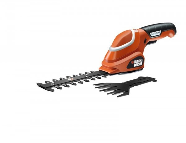 Black&Decker Akumulatorowe nożyce do krzewów GSL700 7V orange
