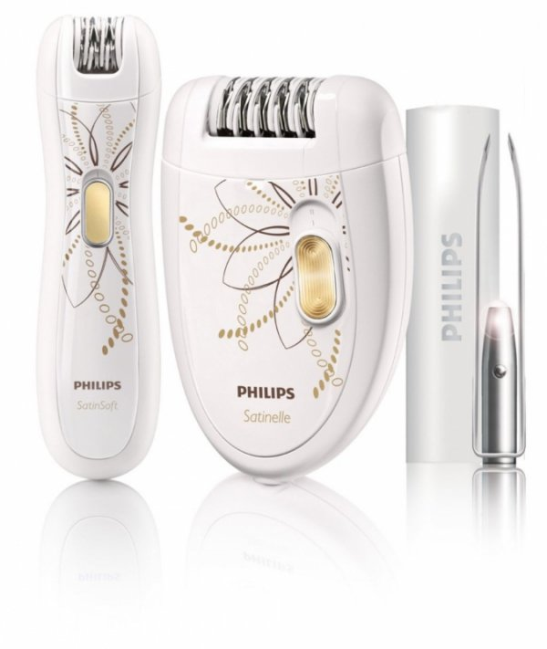 Philips HP6540 depilator + trymer do bikini & zestaw penset