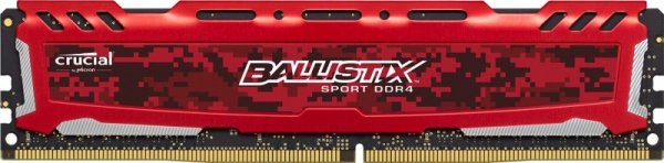 Ballistix Sport LT 16GB DDR4 2400 MT/s DIMM 288pin red