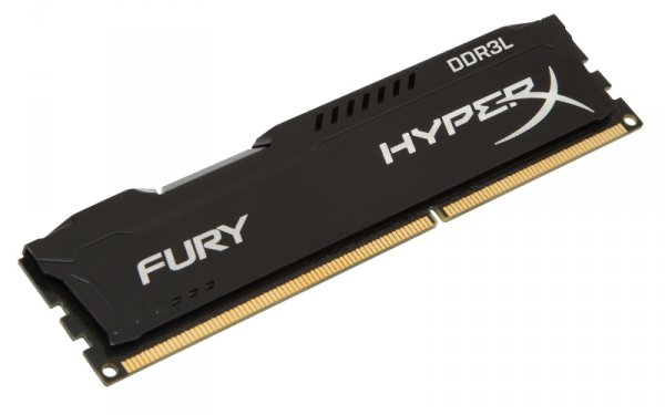 Kingston HyperX 4GB DDR3L-1600, HX316LC10FB/4, Fury Black