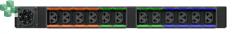 U1076 Listwa rPDU, Basic Standard, 11.0kW, zmienna konfiguracja faz, 1U (pozioma), (12) Combo C13/C19, Universal Inlet, Black Powder Coat.