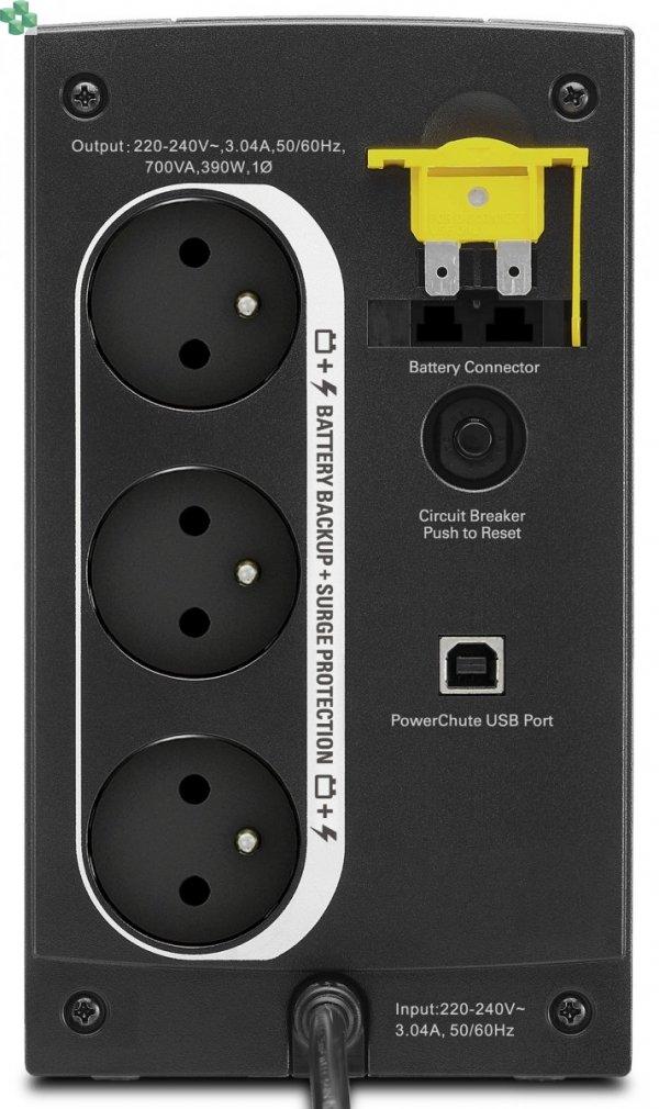 BX700U-FR APC Back-UPS 700VA/390W, AVR, gniazda FR
