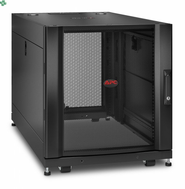 APC NetShelter SX 12U Server Rack Enclosure 600mm x 1070mm w/ Sides Black AR3103