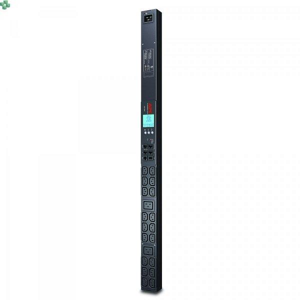 AP8858EU3 Monitorowana listwa zasilająca PDU 2G do montażu w szafie, zero U, 16 A, 230 V, (18) C13 i (2) C19, kabel IEC309