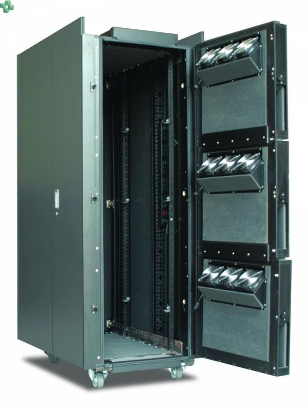 AR4038IX429 Wyciszona meblowa szafa serwerowa - NetShelter CX 38U, wykończenie czarne