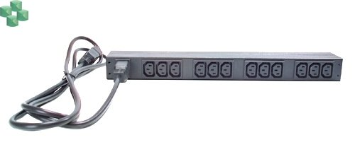 AP9565 Rack PDU, Basic, 1U, 16A, 208/230V, (12)C13