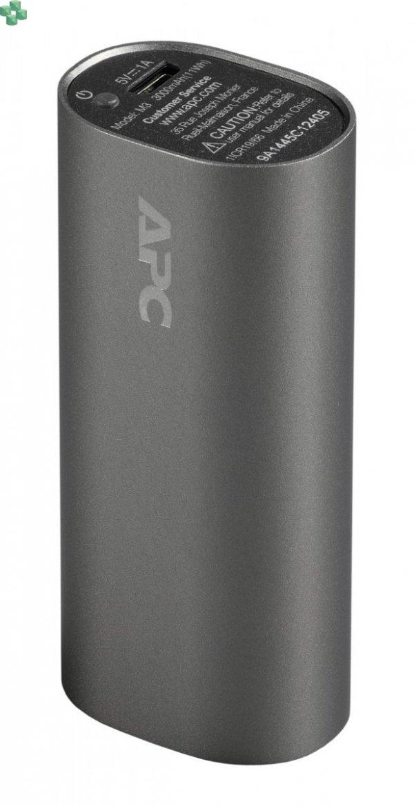 M3TM-EC Przenośny akumulator APC Mobile Power Pack, 3000 mAh litowo-jonowe ogniwa cylindryczne, tytanowy