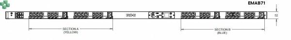 EMAB71 Listwa PDU Eaton ePDU MA 0U (309 32A 1P) 28xC13: 4xC19 - zarządzalna