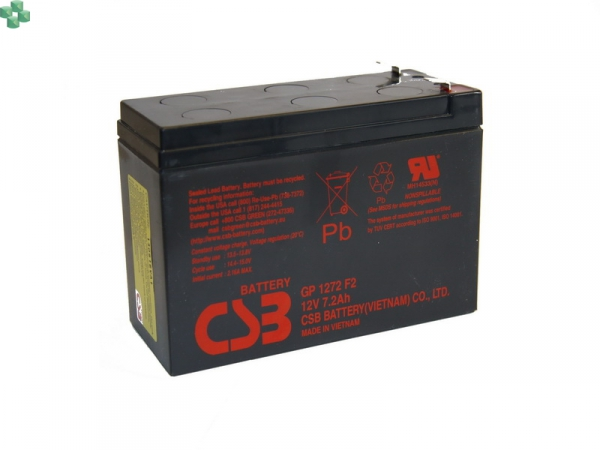 GP1272F2 Akumulator CSB GP1272 F2 12V/7.2Ah (równorzędny zamiennik dla modułu APC RBC#2)