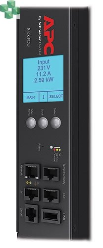 AP8959EU3 Zarządzana listwa zasilająca PDU 2G do montażu w szafie, zero U, 16 A, 230 V, (21) C13 i (3) C19, kabel IEC309