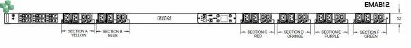 EMAB12 Listwa PDU Eaton ePDU MA 0U (309 32A 3P) 12xC13: 12xC19 - zarządzalna