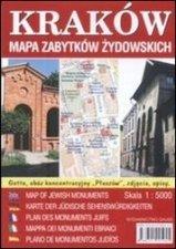 Kraków Mapa zabytków żydowskich 1:4000