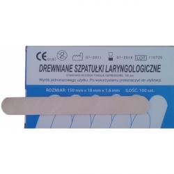 Szpatułki Laryngologiczne Drewniane - op. 100szt.