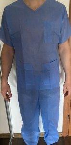 Komplet Jednorazowy - Spodnie i Bluza z SMS opakowanie 10 sztuk