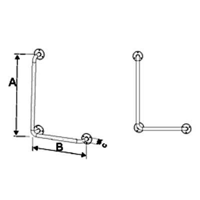 Uchwyty Kątowe Prawe/Lewe INOX fi 25mm - Różne Rodzaje