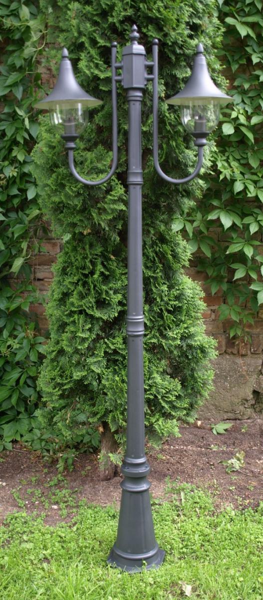 Lampa ogrodowa stojąca 2-pł 220 cm ALUMINIUM OGR9
