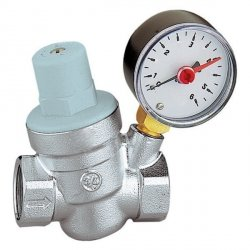 Reduktor Ciśnienia Wody 3/4 z Manometrem 6 bar