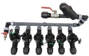 Kolektor Komplet 6 Elektrozawory 100HV, Kolektor , Filtr
