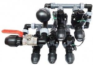Kolektor Komplet 5 Elektrozawory 100HV, Kolektor , Filtr - zestaw piętrowy