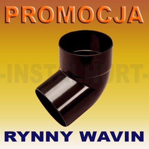 KOLANO JEDNOKIELICHOWE RURY SPUSTOWEJ RYNNY WAVIN KANION FI 75/67ST