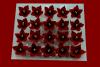 Lilijka bordowa - kwiaty cukrowe - 20 szt.