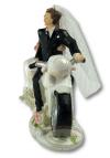 Figurka Para Młoda na motorze