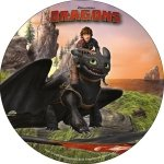 Modecor - opłatek na tort Jeźdźcy smoków (Dragons) B