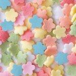 Posypka dekoracyjna confetti kolorowe kwiatuszki