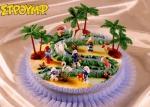 Kardasis - zestaw do dekoracji tortu wioska Smerfów