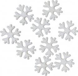 Dekoracja cukrowa - Płatki śniegu - 15 szt