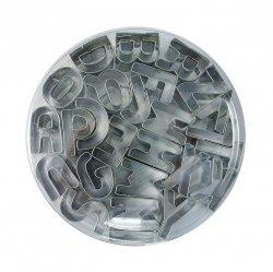 Metalowe wykrawacze do masy cukrowej ALFABET LITERKI