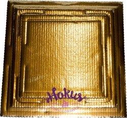 Podkład tortowy tacka z tektury złota 25 x 25 cm