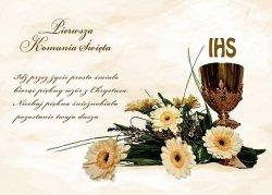 Hokus - opłatek na tort komunijny Kwiaty