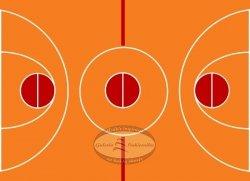 Hokus - opłatek na tort Boisko do koszykówki