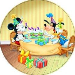 Modecor - opłatek na tort okrągły Mickey Mouse Przyjęcie