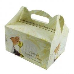 Ozdobne pudełko na ciasto komunijne - 10 szt. - Pierwsza Komunia Święta