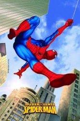 Modecor - opłatek na tort prostokątny Spider-man Lot