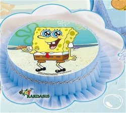 Kardasis - Opłatek na tort okrągły Pan Gąbka Spongebob 10 szt.