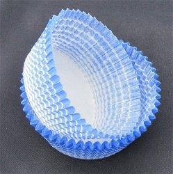 Papilotki - foremki do mufinek niebieskie 40 mm 100 szt.