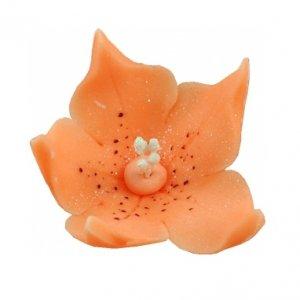 Lilijka łososiowa -  kwiaty cukrowe - 20 szt.